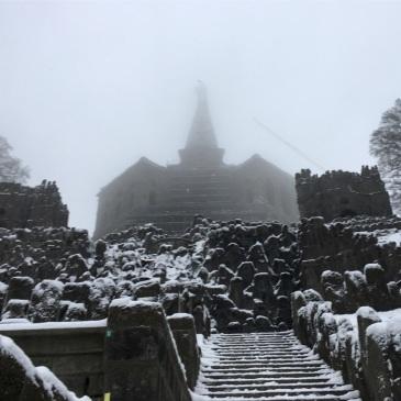 hercules-statue-kassel-germany-park-fog