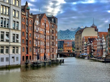 Hamburg Water Front and Elbe Philharmonic