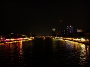 Main River at Night in Frankfurt