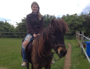 Riding an Icelandic Pony