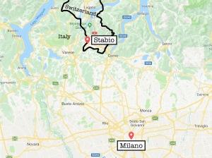 Map Milan Stabio